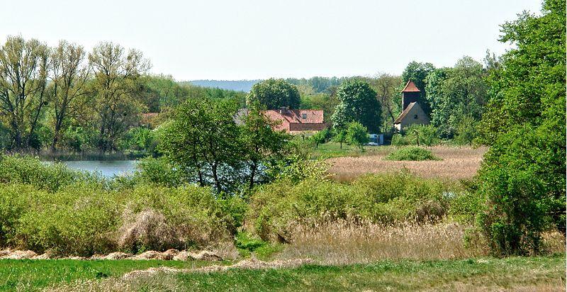 Blick über den Uckersee nach Seehausen