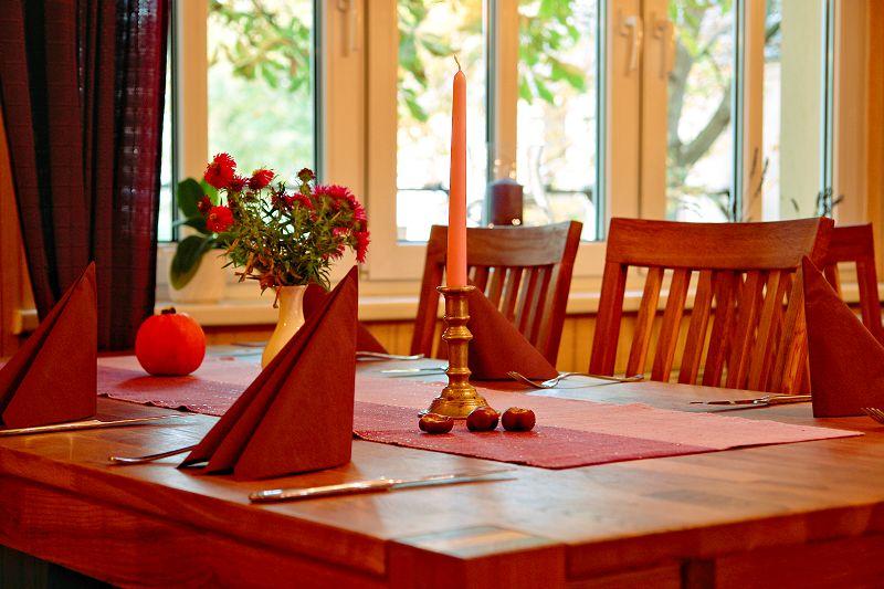 Gaststätte Kastanienhof Uckermark - Tischdekoration