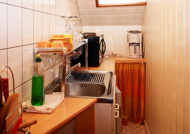 kleine Ferienwohnung - Küche